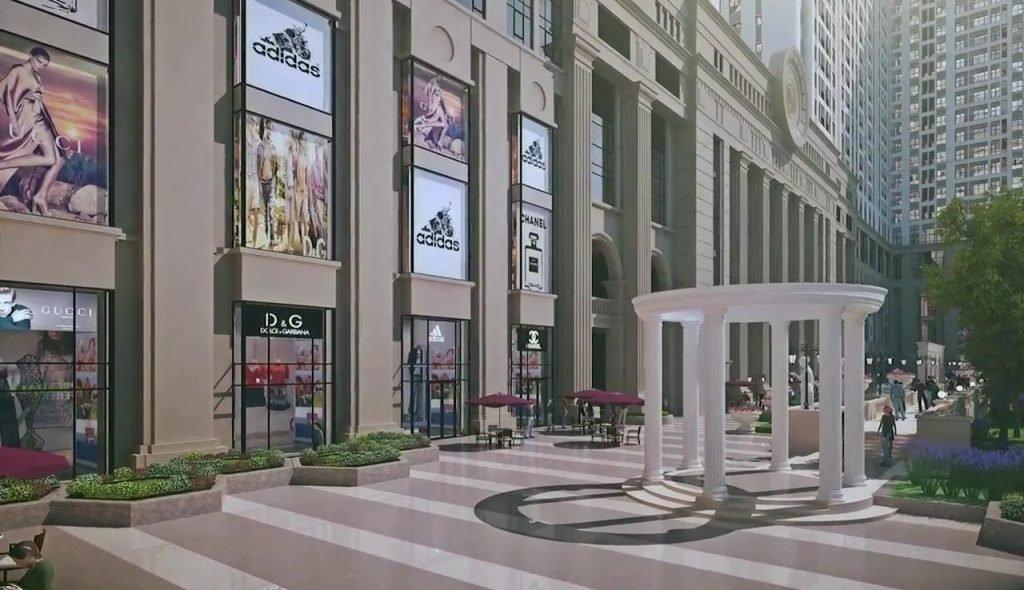 Hệ thống trung tâm thương mại Căn hộ Sunshine Avenue Quận 8