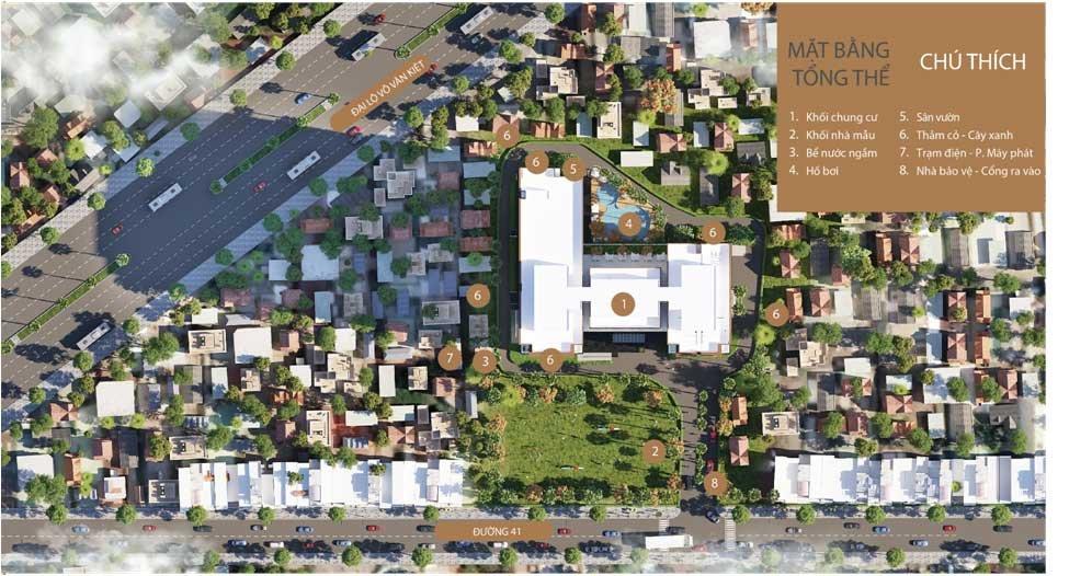 Mặt bằng Tổng thể Dự án Căn hộ Sunshine Avenue Quận 8