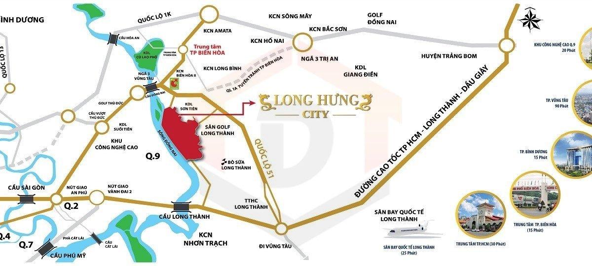 Bản đồ Long Hưng