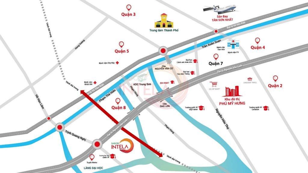 Vị trí căn hộ Saigon Intela