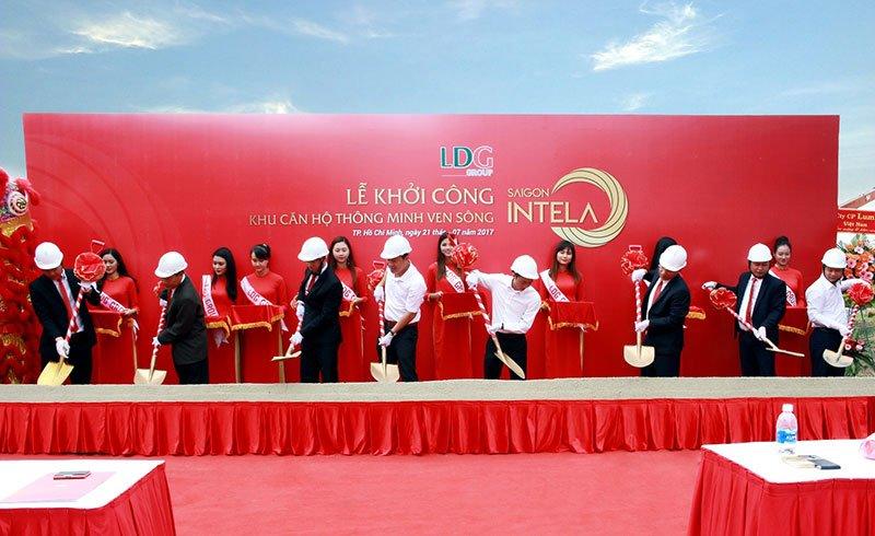 Lễ khởi công dự án Saigon Intela bởi chủ đầu tư LDG Group