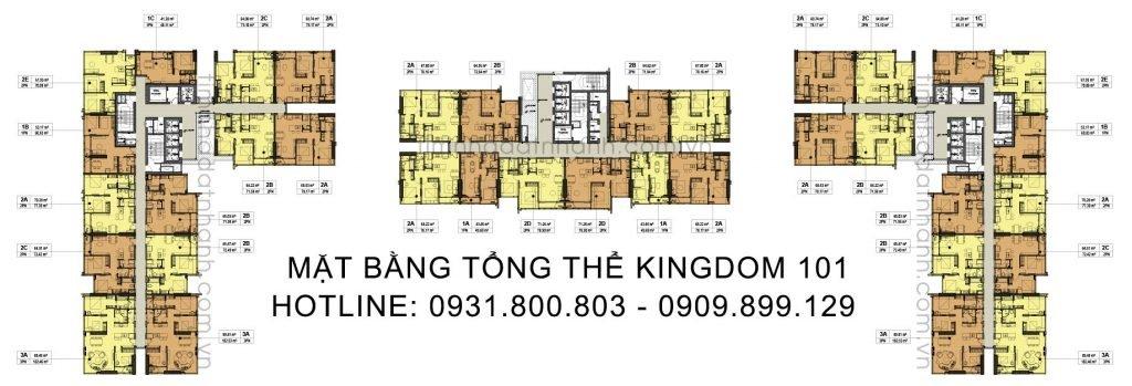 Mặt bằng tổng thể Kingdom 101