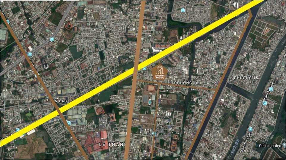 Vị trí Dự án Chung cư SunShine Avenue Quận 8 của Đất Xanh
