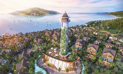 Phối cảnh một dự án khu đô thị mặt tiền biển của Công ty NetLand.