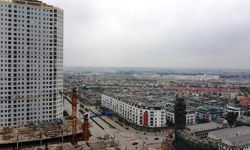 Một dự án khu đô thị gồm cả chung cư và nhà thấp tầng tại Hà Nội